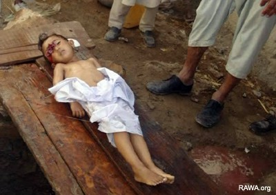 Afghan child killed