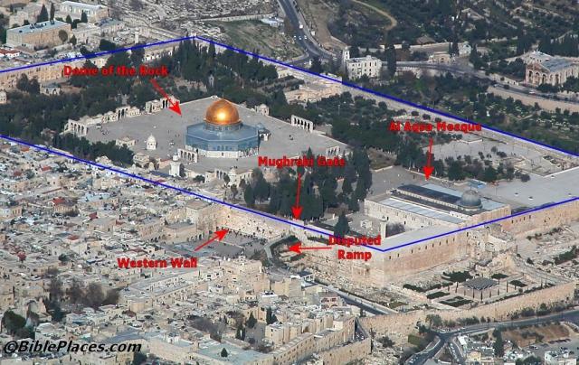 al aqsa mosque and dome of the rock
