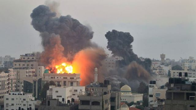 Gaza homes bombed