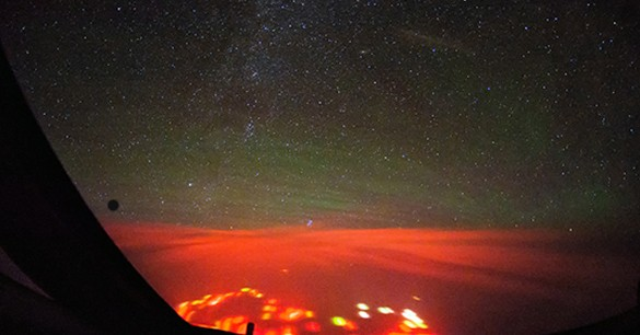 Red Glow over Pacific