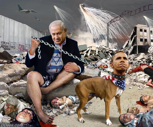 Netanyahu Obama dog