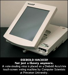 Voting diebold hacked