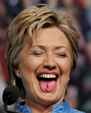 Hillary Clinton forked tongue