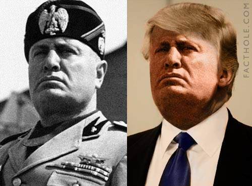 Trump and Mussolini 2