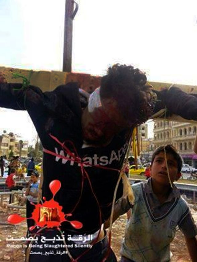 ISIS crucify two