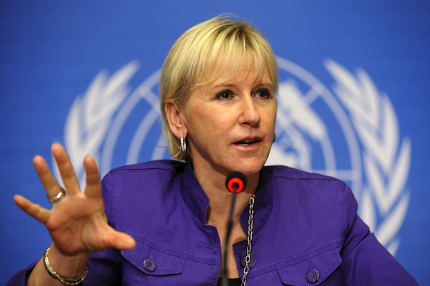 "Special Representative of the Secretary-General (SRSG) on Sexual Violence in Conflict, Margot Wallstrom, attends a press conference on September 27, 2010 at the United Nations Offices in Geneva. A UN expert pushed for the prosecution of leaders of rebel groups for the mass rape of women in eastern Democratic Republic of Congo, saying urgent action was needed ""before the trail goes cold."" Wallstrom singled out the Democratic Forces for the Liberation of Rwanda (FDLR) and the Mai-Mai militia.    AFP PHOTO / FABRICE COFFRINI (Photo credit should read FABRICE COFFRINI/AFP/Getty Images)"