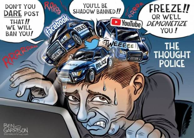 """Defund The Thought Police! """"Our Free Speech Is Locked Up""""! 